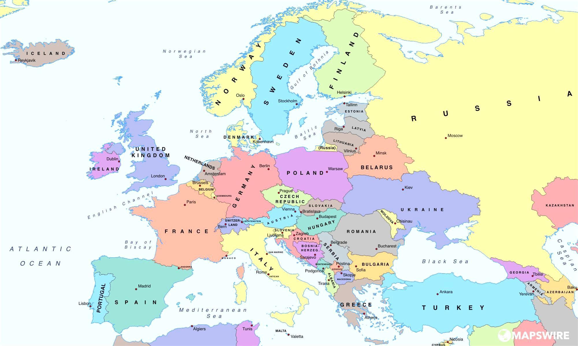 Mapa Evropy Ukazuje Bulharsko Mapa Evropy Znazornujici